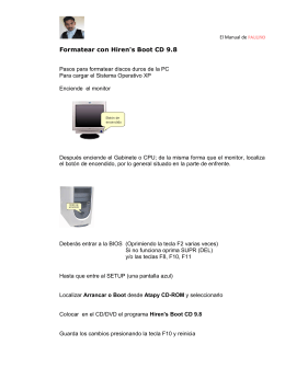 Formatear con Hiren`s Boot CD 9.8