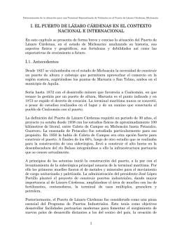 I. EL PUERTO DE LÁZARO CÁRDENAS EN EL