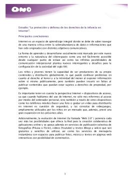 """1 Estudio: """"La protección y defensa de los derechos de la"""