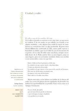 Ciudad y exilio - Verbum et Lingua: Didáctica, lengua y cultura