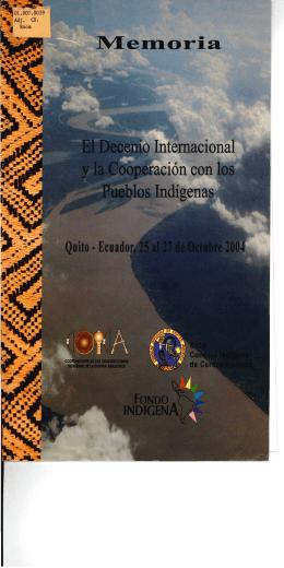 cilio Internacional eración con los tilos Indígenas