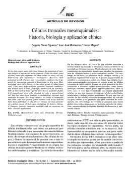 Células troncales mesenquimales: historia - SciELO