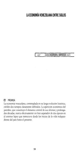 LA ECONOMíA VENEZOLANA ENTRE SIGLOS