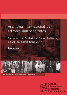 Hallarán aquí el programa detallado del encuentro_en español