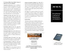 Brochure El bautismo