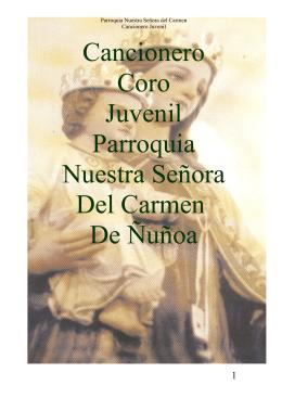 Cancionero Coro Juvenil Parroquia Nuestra Señora Del Carmen De