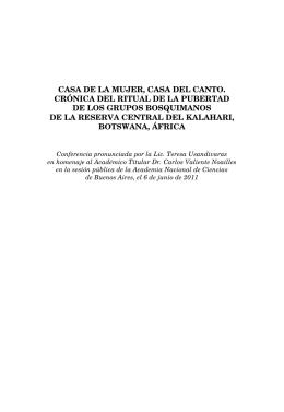 CASA DE LA MUJER, CASA DEL CANTO. CRÓNICA DEL RITUAL