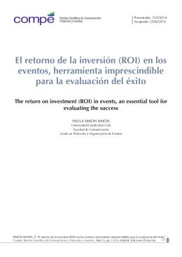 (ROI) en los eventos, herramienta imprescindible para la