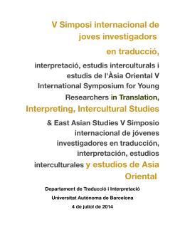 Ponentes y resúmenes - Universitat Autònoma de Barcelona