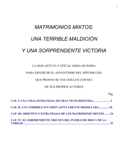 Matrimonios MIXTOS