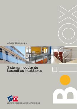 Sistema modular de barandillas inoxidables