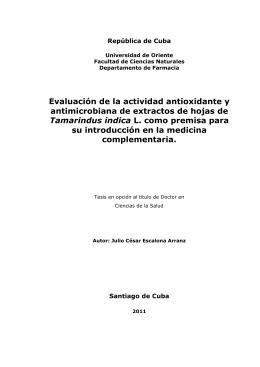 Evaluación de la actividad antioxidante y antimicrobiana de