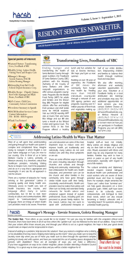 3rd Qtr Newsletter September 2015