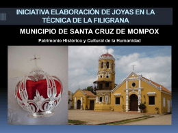 INICIATIVA ELEBORACION DE JOYAS EN LA TÉCNICA DE LA