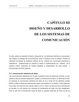 CAPÍTULO III DISEÑO Y DESARROLLO DE LOS