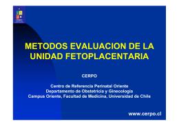 metodos evaluacion de la unidad fetoplacentaria