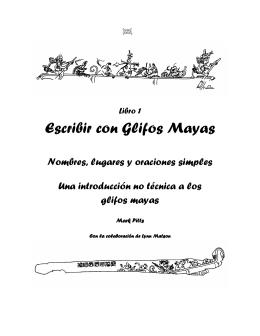 Escribir con glifos mayas