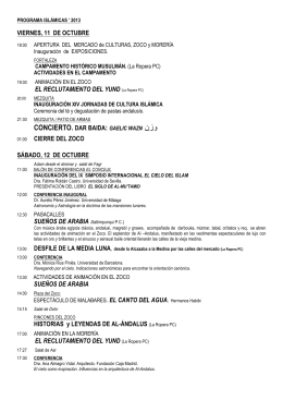 programa de las jornadas - Ayuntamiento de Almonaster la Real