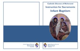 Infant Baptism - the Catholic Diocese of Richmond