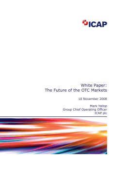 White Paper: The Future of the OTC Markets