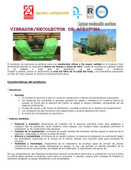 VIBRADOR/RECOLECTOR DE ACEITUNA