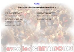 Adelita (D`après un « Corrido revolucionario mejicano »