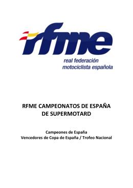 RFME CAMPEONATOS DE ESPAÑA DE SUPERMOTARD
