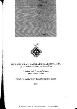 EPIGRAFÍA HERÁLDICA EN LA IGLESIA DE NTRA. SRA. DE LA