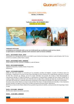 TAILANDIA TRADICIONAL SALIDA GRUPAL