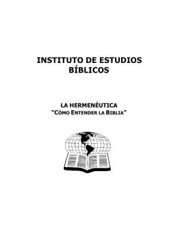 INSTITUTO DE ESTUDIOS BÍBLICOS