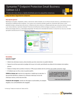 Symantec™ Endpoint Protection Small Business Edition 12.1