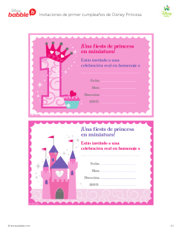 Cumpleaños - Primer cumpleaños Princesa