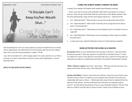 """A Disciple Can`t Keep his/her Mouth Shut…"""