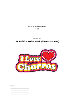 CHURRERÍA AMBULANTE (FINANCIACION)