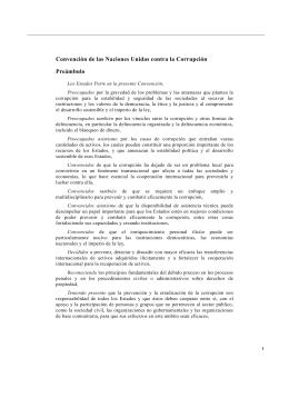 Convención de las Naciones Unidas contra la Corrupción Preámbulo