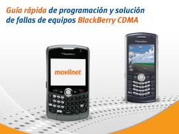 Guía rápida de programación y fallas Blackberry CDMA