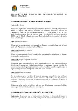 REGLAMENTO DEL SERVICIO DEL TANATORIO