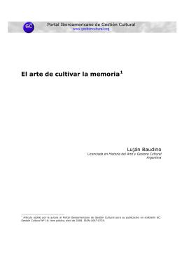 Text íntegre - Portal Iberoamericano de Gestión Cultural
