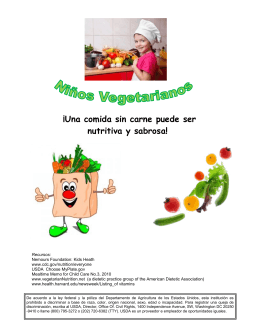 Niños Vegetarianos - Yours for Children