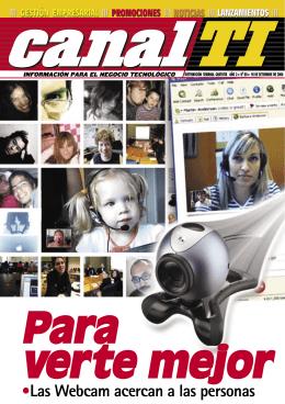 •Las Webcam acercan a las personas