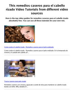 #Z remedios caseros para el cabello rizado PDF video