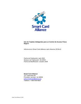 Uso de Tarjetas Inteligentes para un Control de Acceso Físico