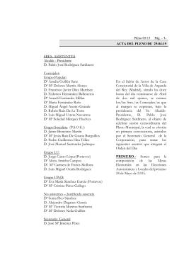 Actas de Pleno 2015 - Archivo de la Ciudad de Arganda del Rey