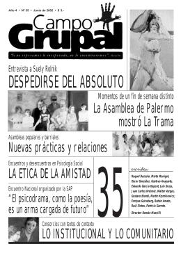 Número 35 - Escuela de Psicología Social de Montevideo