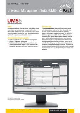 Universal Management Suite (UMS)