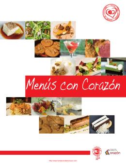 Libro de recetas saludables - Menus con Corazón 2009