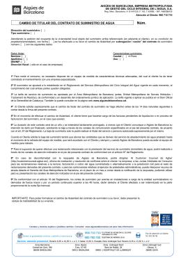 SOCIEDAD GENERAL DE AGUAS DE BARCELONA, S