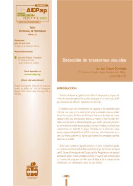 Detección de trastornos visuales - Asociación Española de Pediatría
