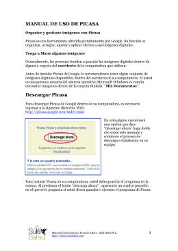 MANUAL DE USO DE PICASA