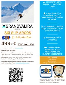 Vente a esquiar a Pas de la Casa, Andorra, con el SUP y Argos del 17